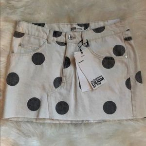 NWT Zara Polka Dot Mini Skirt